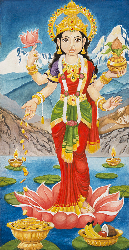 Hindu Goddess of Wealth Lakshmi