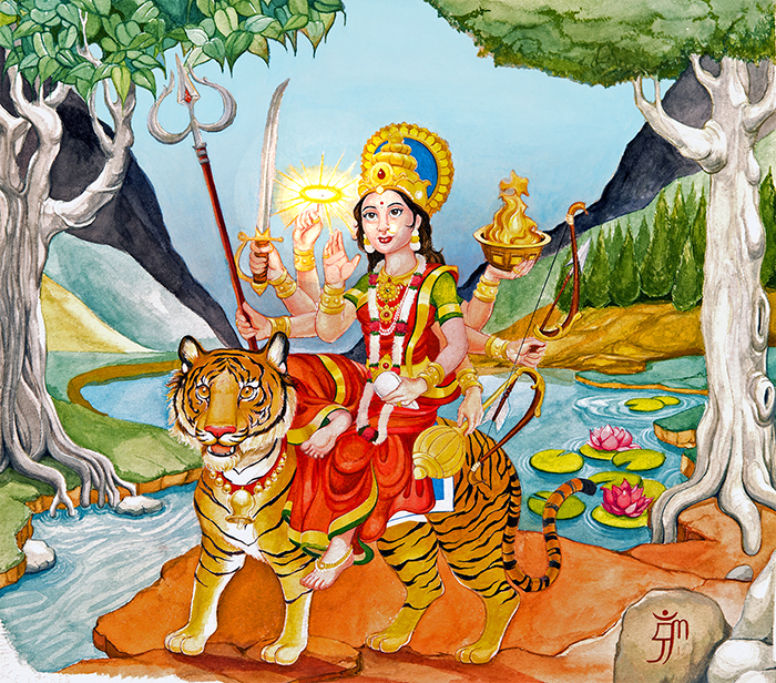 Hindu Goddess Durga's 8 ways to destroy maya
